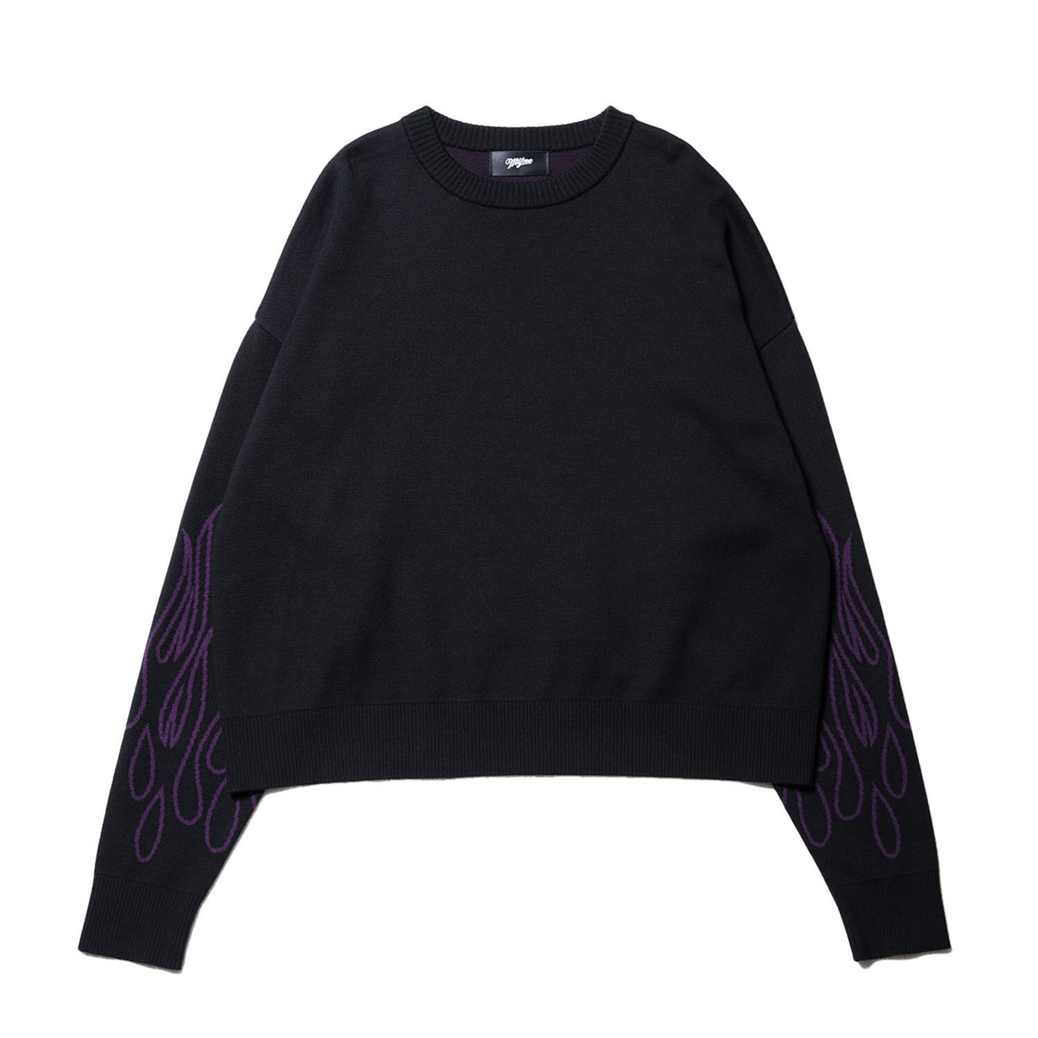 Fire knit pullover / BLACK - 画像1
