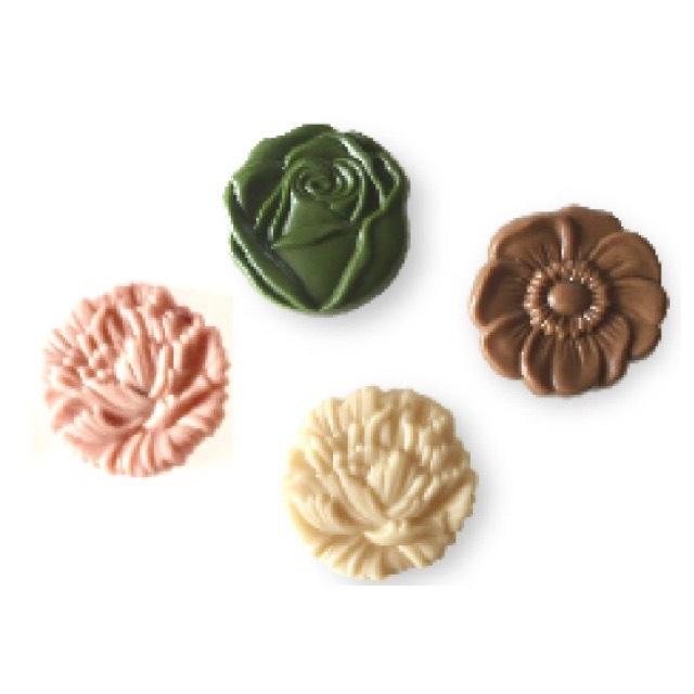 flower medal ivory系 (オハナメダル アイボリー系)raw chocolate