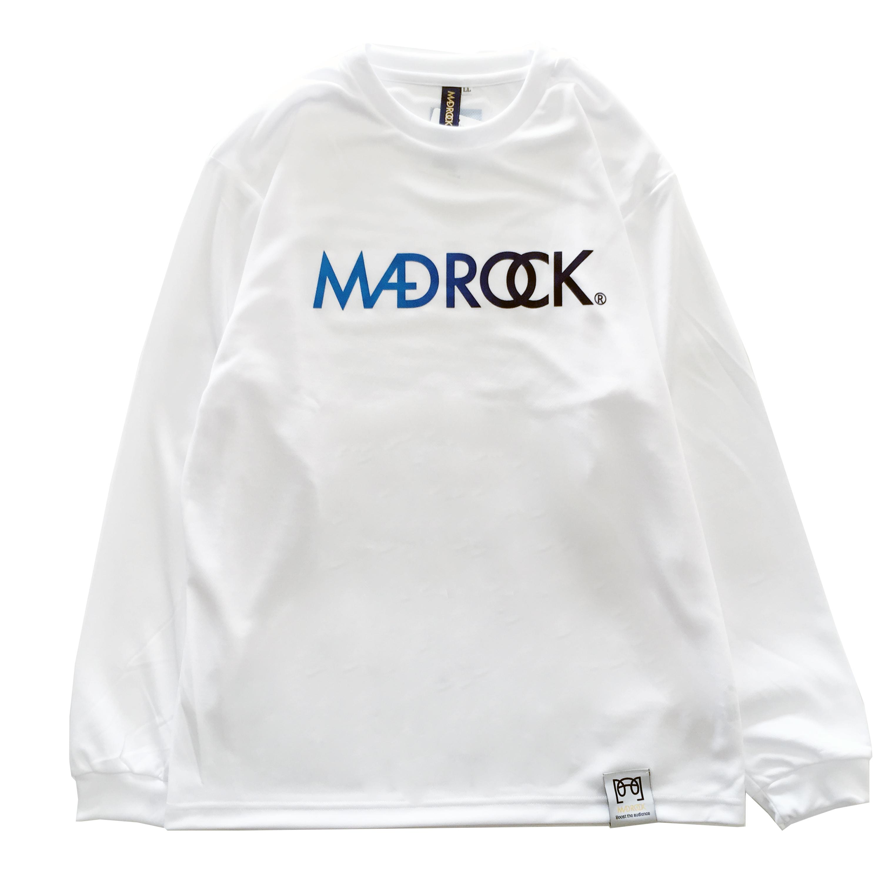 マッドロック / グラデーション ロゴ ロンT / ドライタイプ / ホワイト