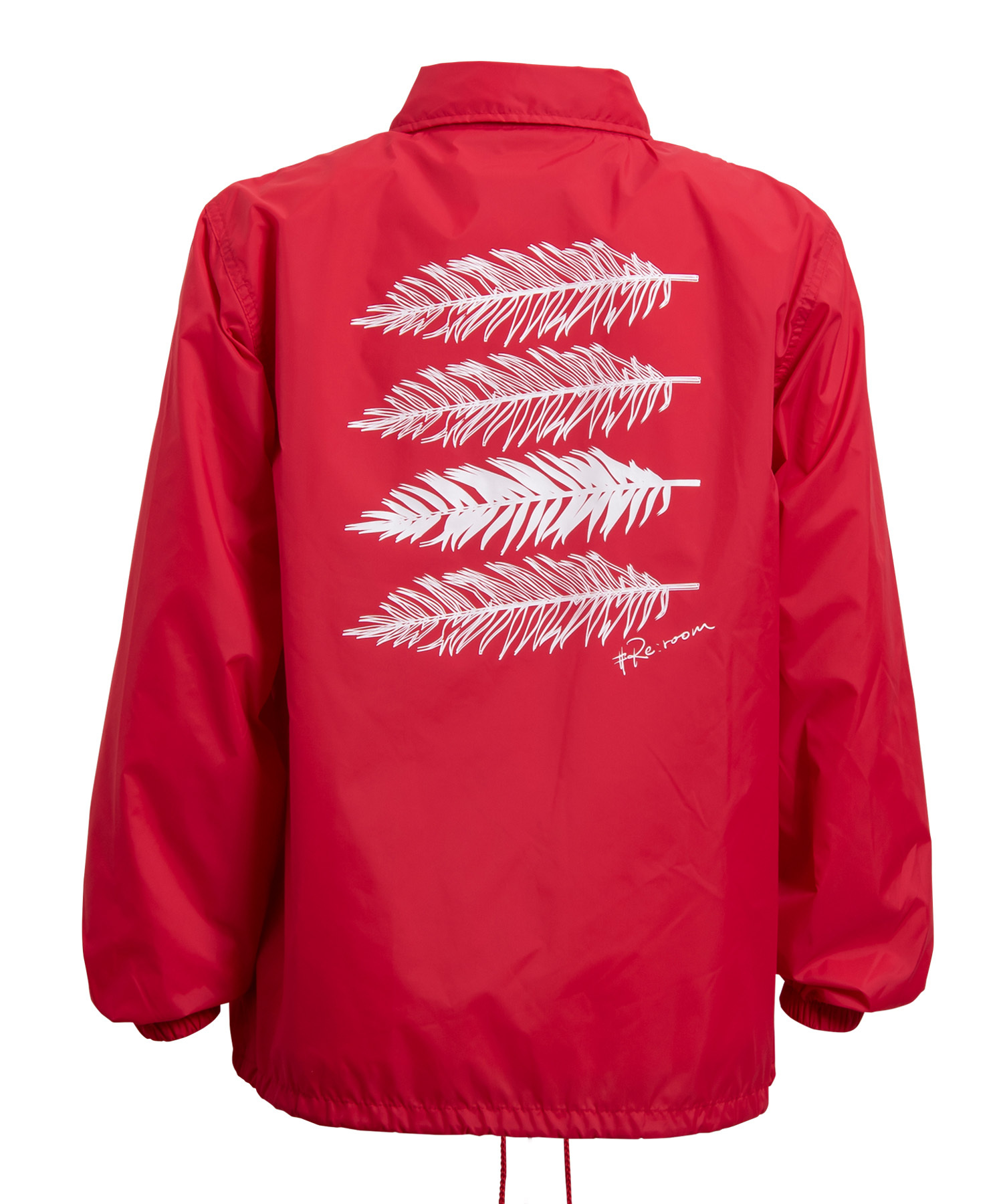 PALM LEAF NYLON COACH JACKET[REJ040]