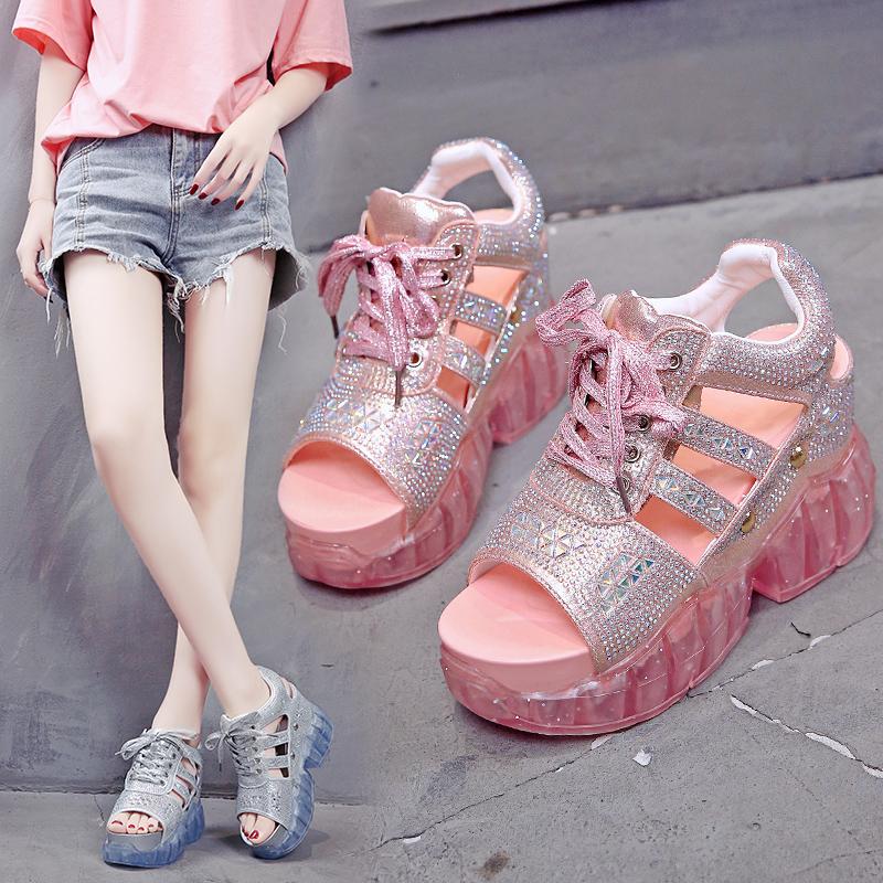 【shoes】合わせやすい配色ラメ入りサンダル21825571