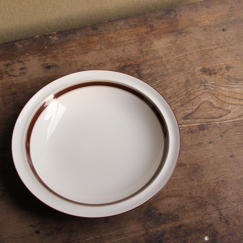 charcoal river ブラウンラインのカレー皿 在庫2枚