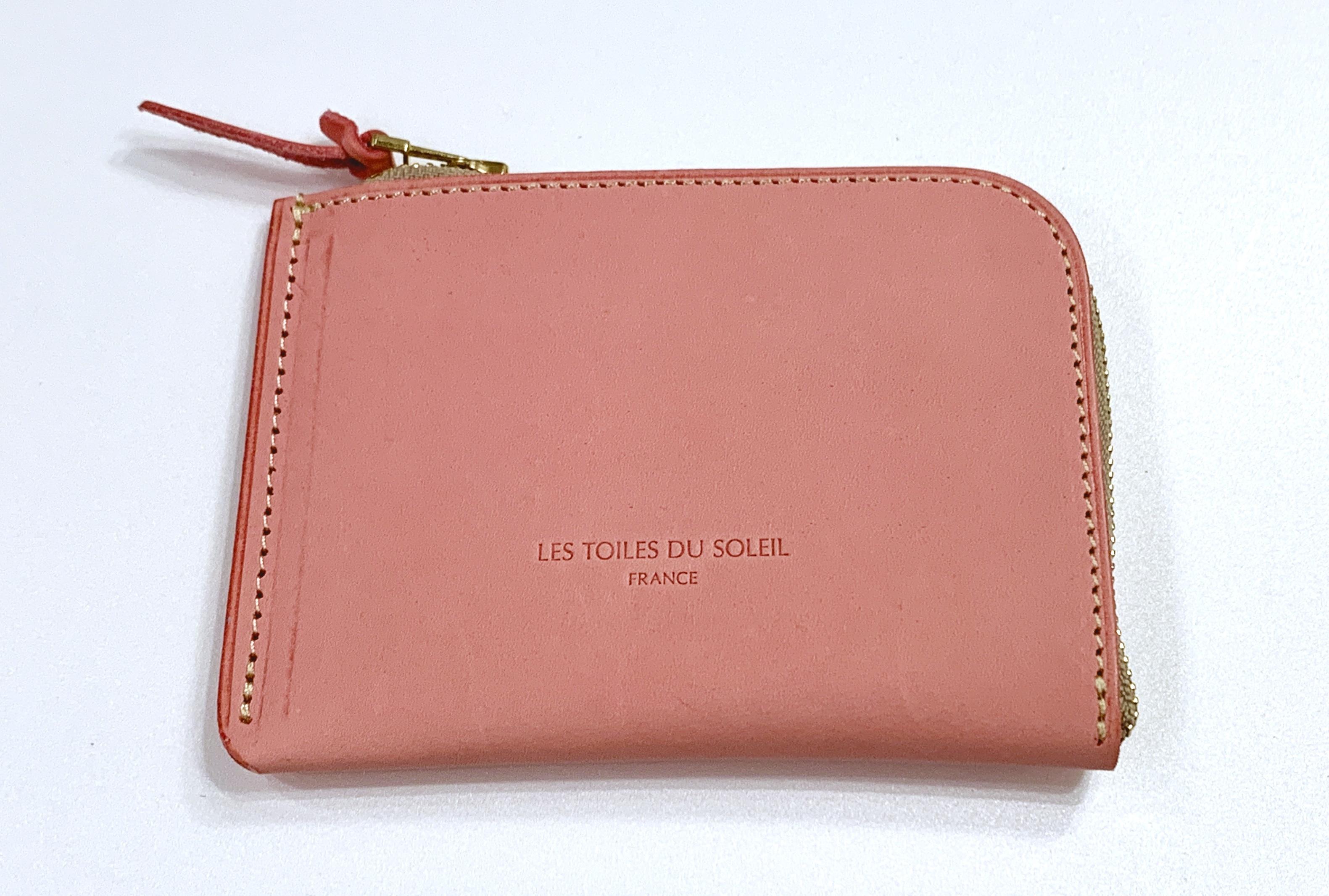 【LES TOILES DU SOLEIL】レザーミニウォレット Marie Antoinette ピンク