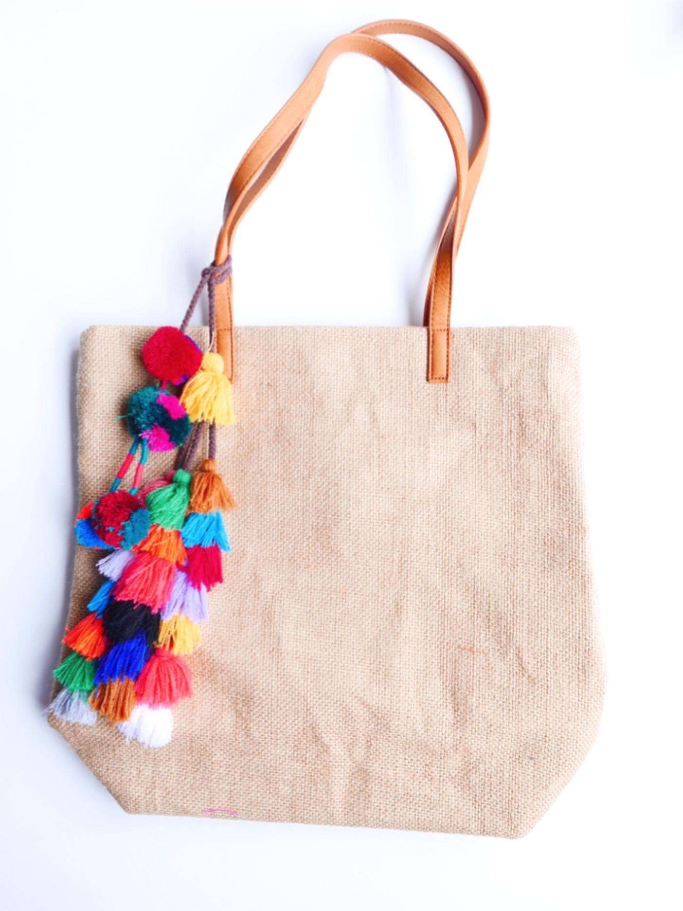 Bohemian tote bag -TAN-