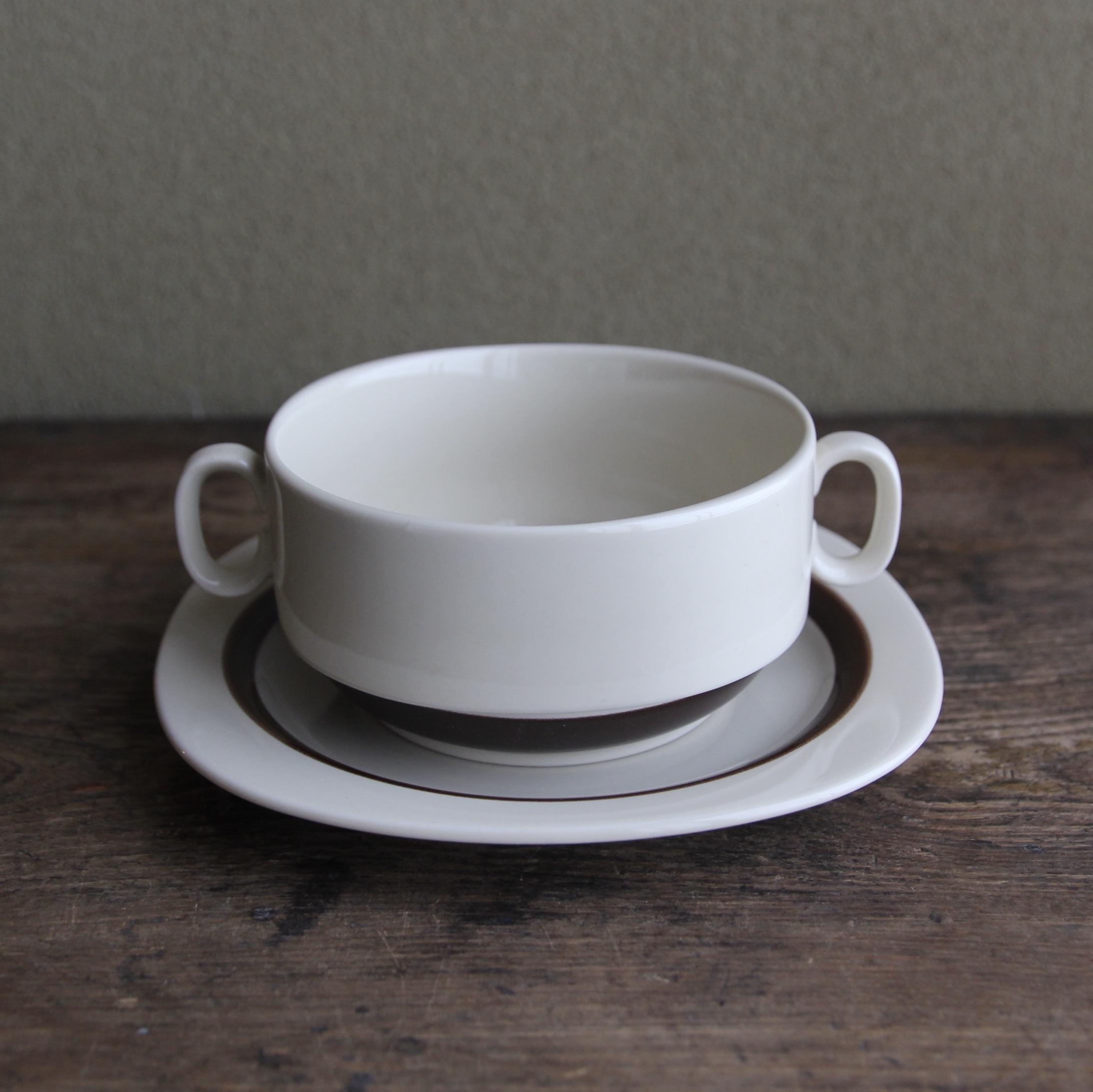 ロジエ スープカップ&ソーサー 在庫1セット