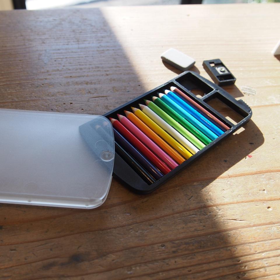 カードサイズ ミニ色鉛筆セット