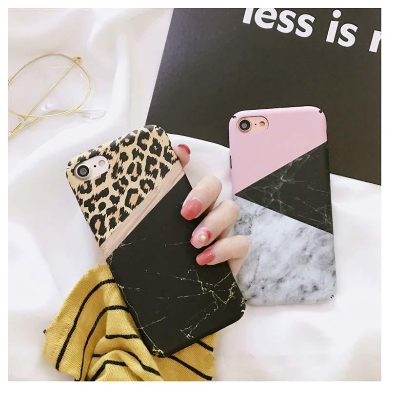 【お取り寄せ商品、送料無料】お洒落な マーブル レオパード ヒョウ柄 iPhoneケース