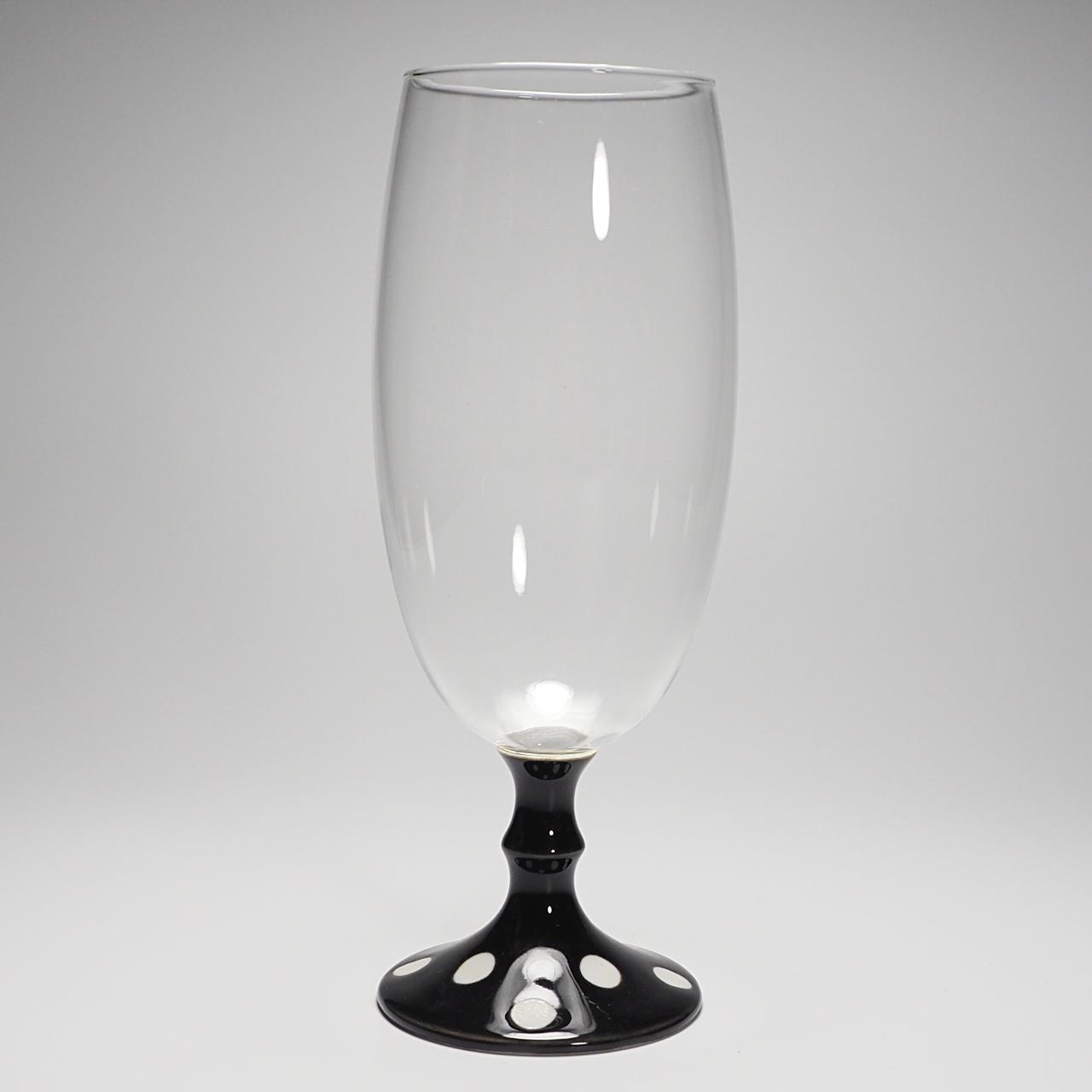 ビールグラス (水玉黒) 20-409