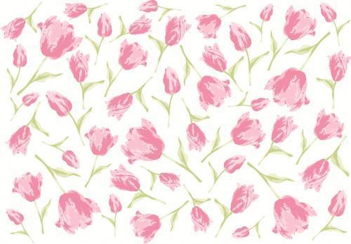 チューリップ転写紙 ピンク A4サイズ(ポーセリンアート用転写紙)