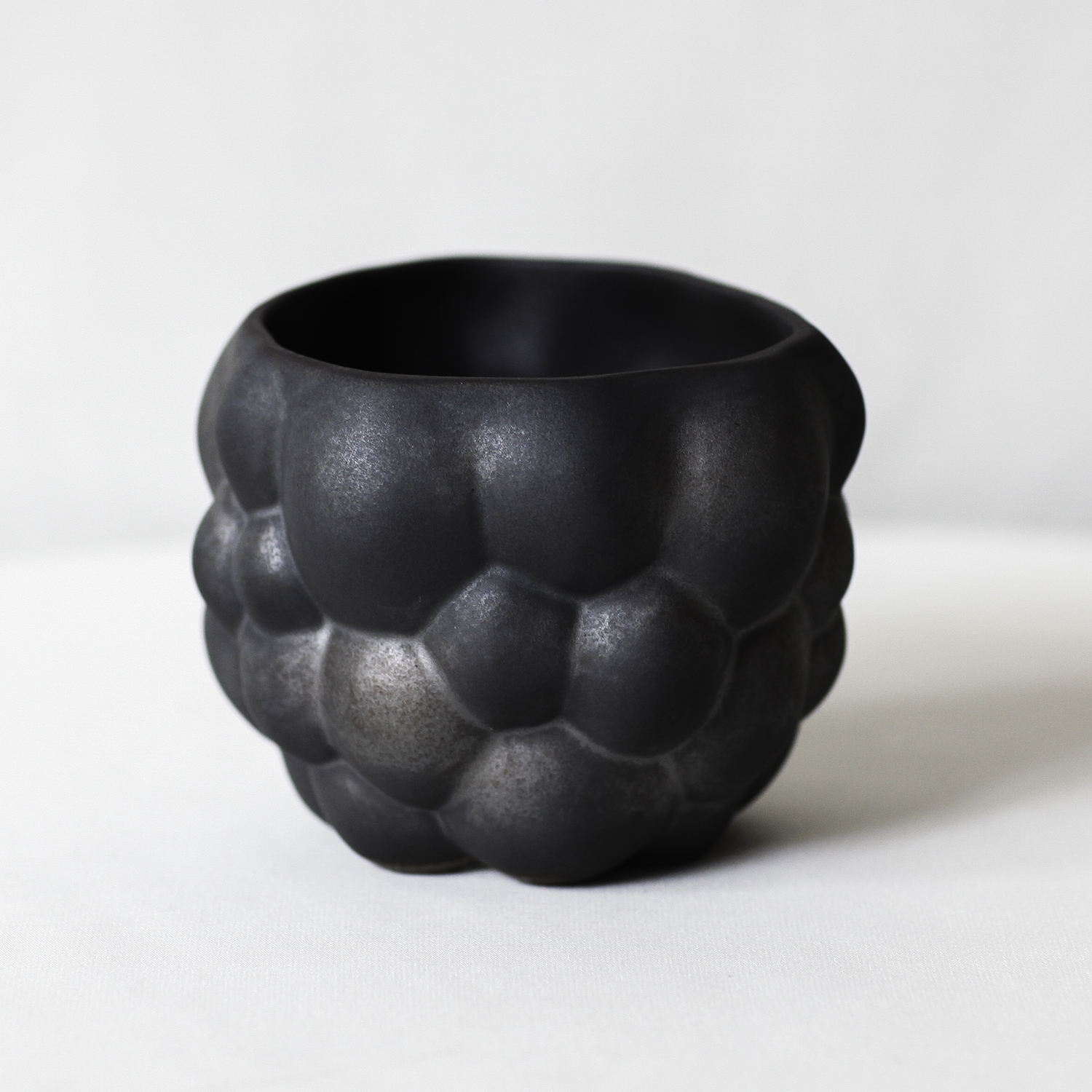Cubic Cloudy Pot(black penetration ver.)