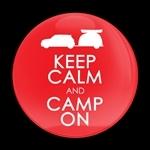 ゴーバッジ(ドーム)(CD1008 - KEEP CALM CAMP ON) - 画像1