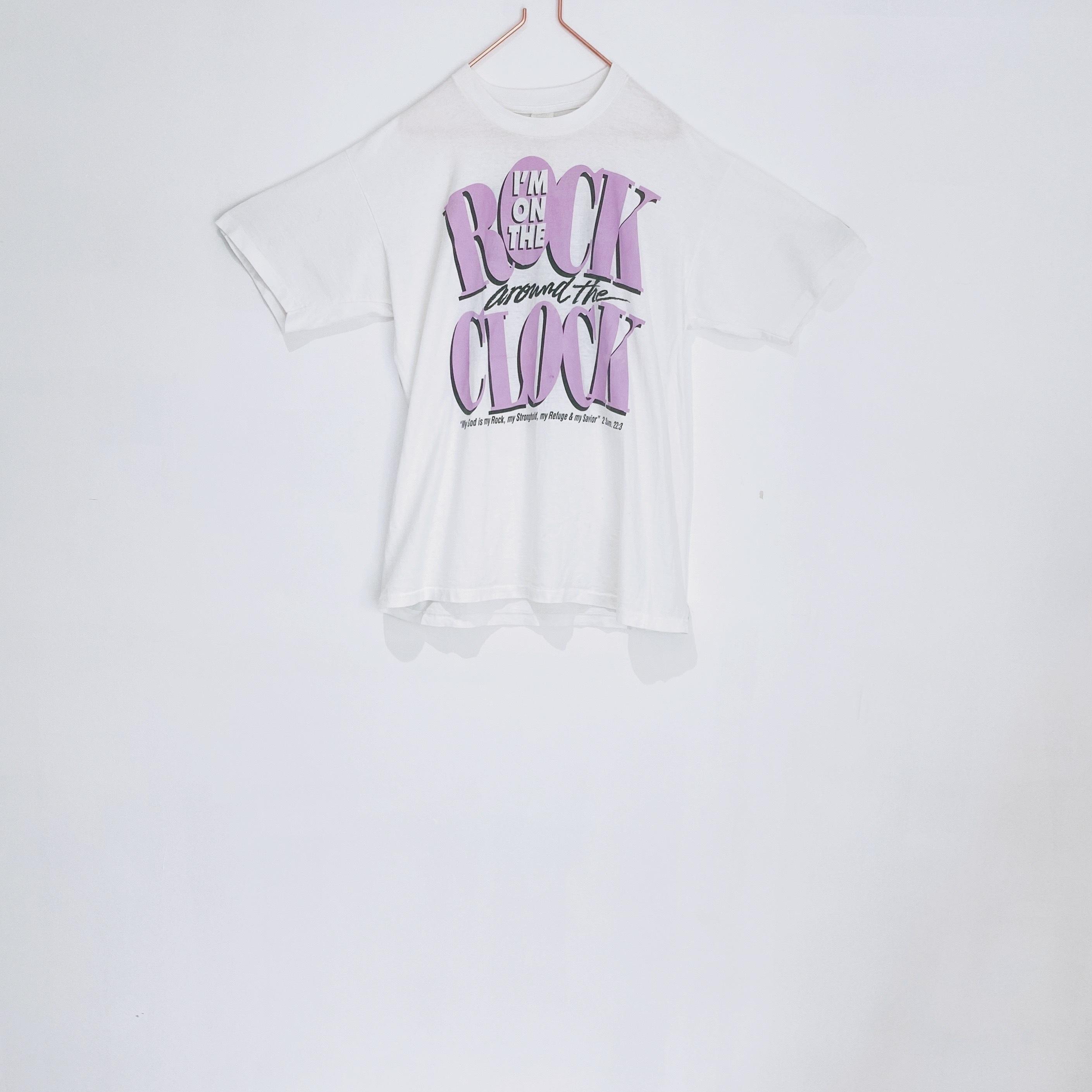 ◼︎'90 ROCK CLOCK pastel tone T-shirts from U.S.A.◼︎