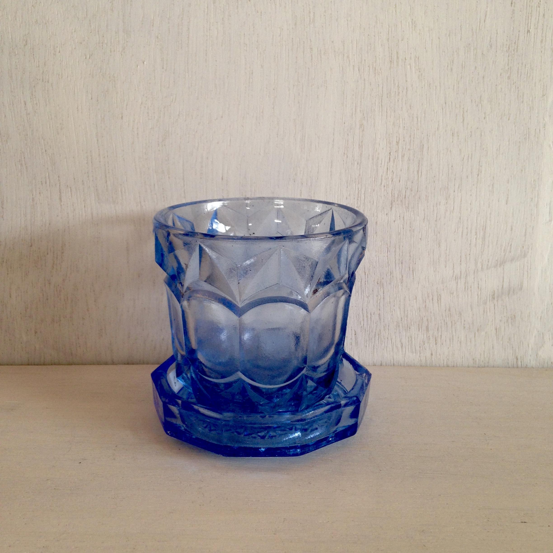 青いグラス コースター付 A