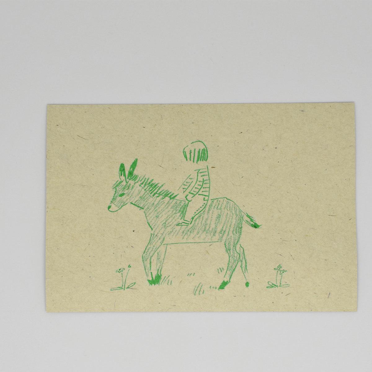 HIGASHI ALPS(ヒガシアルプス)ポストカード ロバと少年