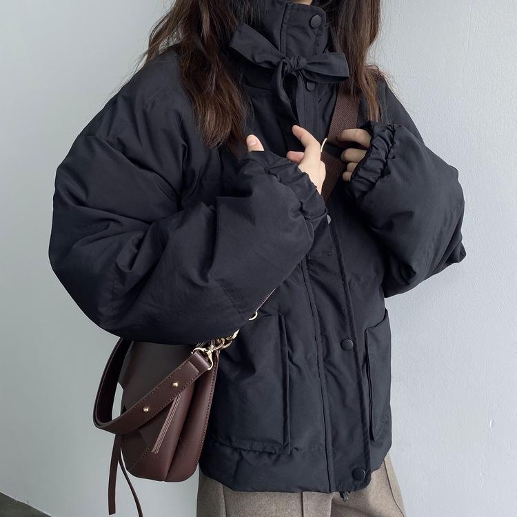【送料無料 】カジュアル & ガーリー ♡ もこもこ リボン 中綿 ダウン ジャケット アウター