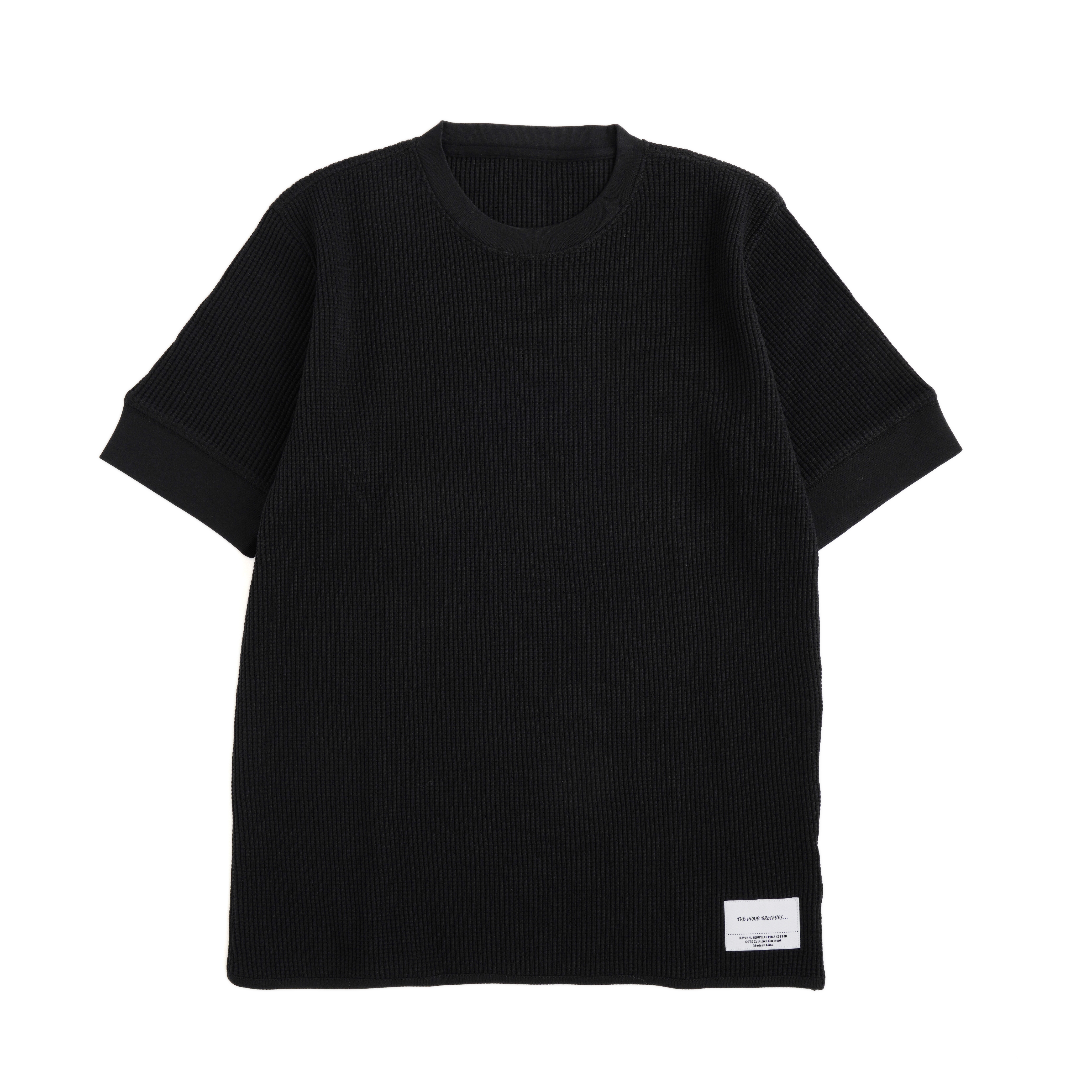 THE INOUE BROTHERS/Waffle T-shirt/Black