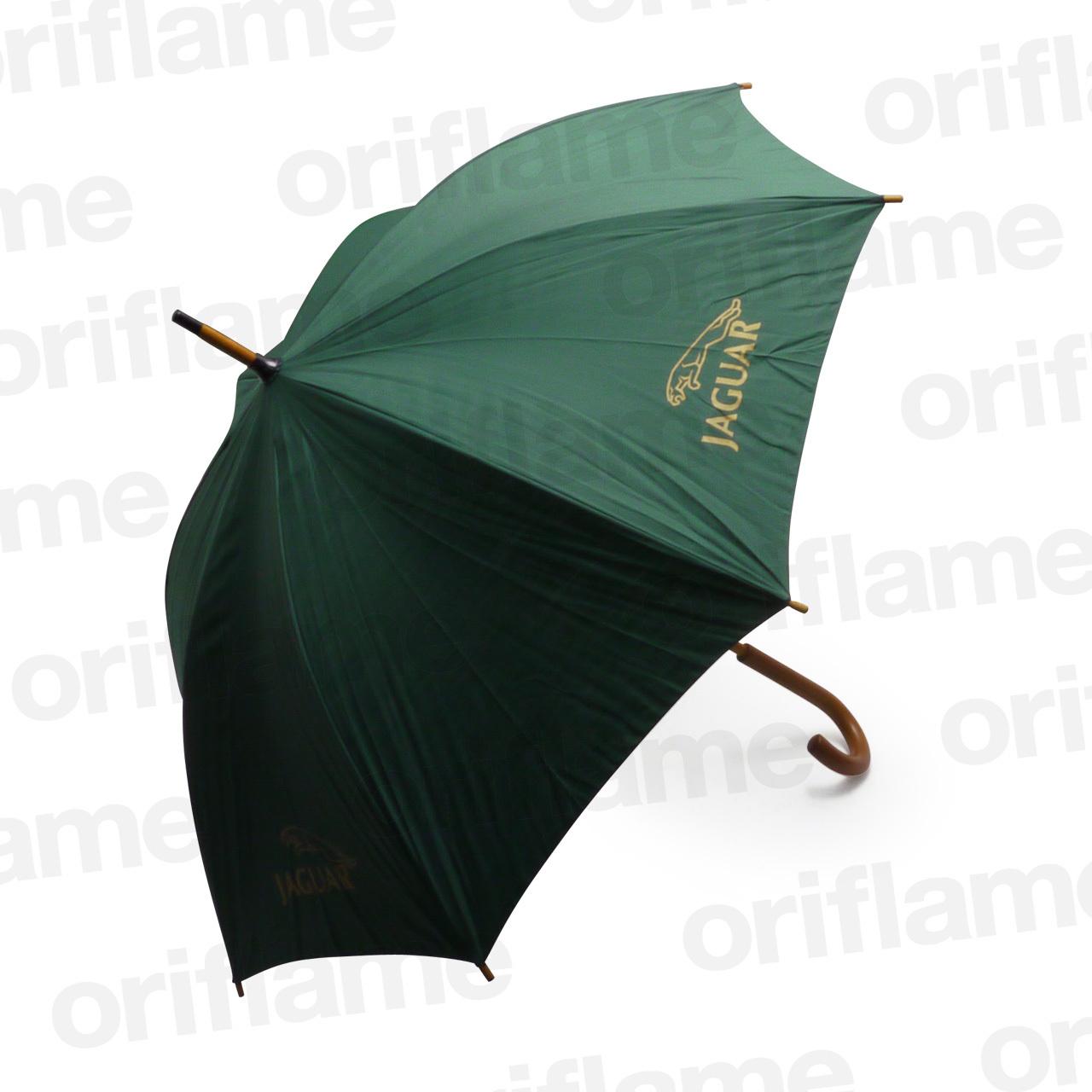 傘・ジャガー・ウッドグリップ・グリーン
