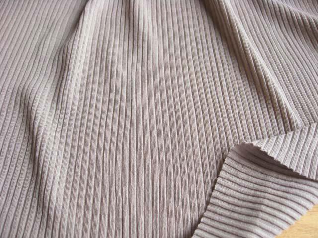 綿強撚糸使い 畝編みニット グレー NTM-2275