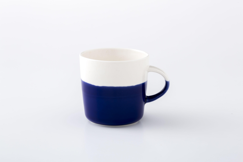 マグカップ:M (透明×ラピスラズリ) / 前野達郎