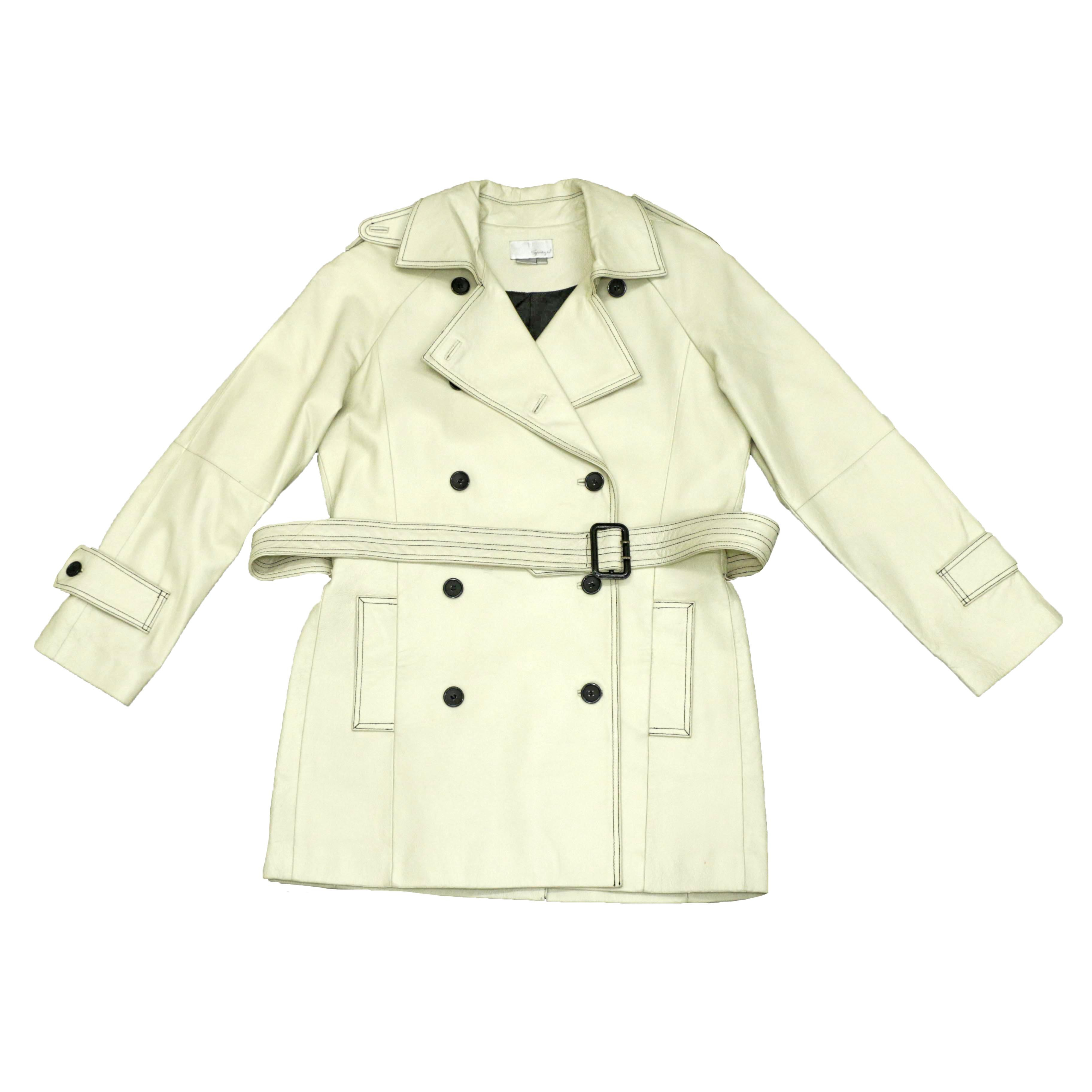 WhiteLeatherTrenchCoat
