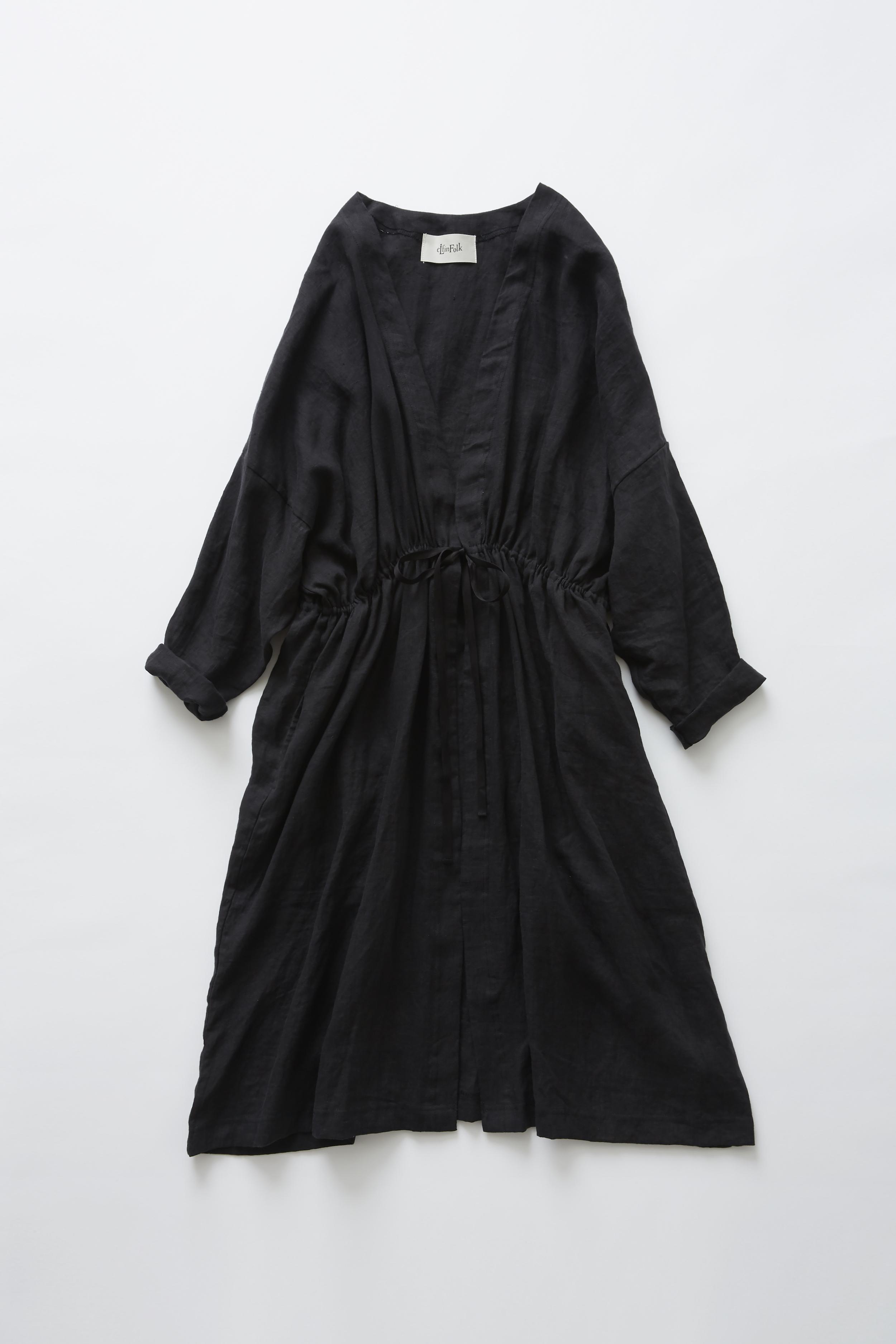 《eLfinFolk 2020SS》linen gown coat / black / F(大人)