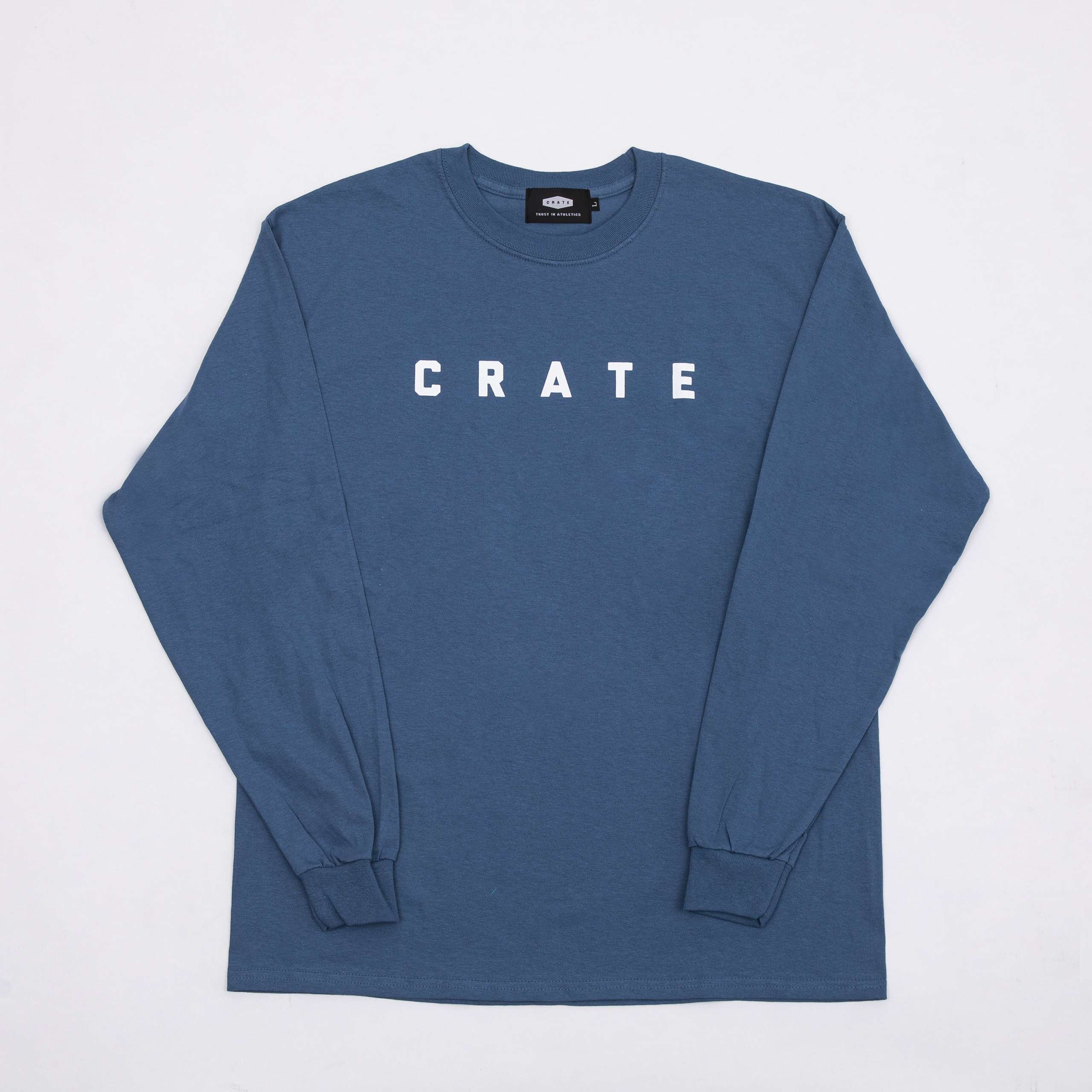 CRATE SIMPLE LOGO L/S T-SHIRTS BLUE