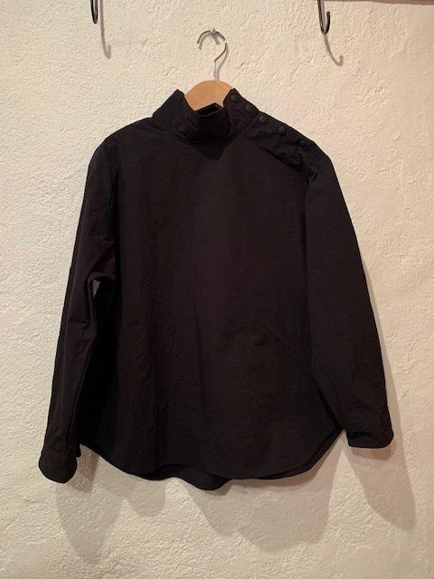 nachukara/スナップ肩ボタンブラウス ブラック