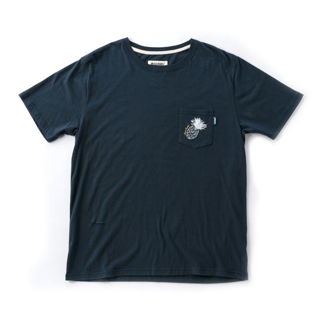 MAGIC NUMBER トロピカル ポケット Tシャツ ネイビー