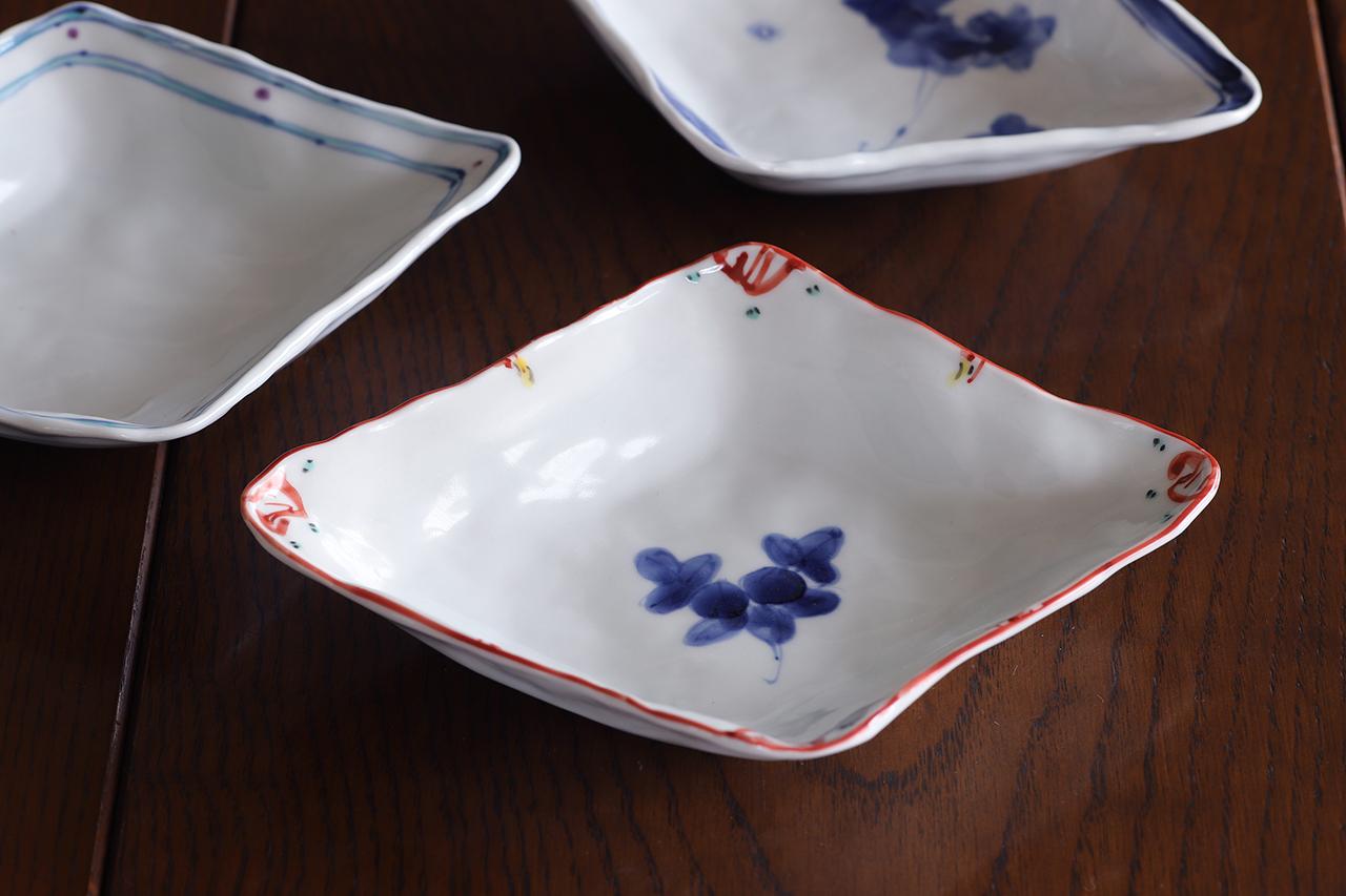 松尾貞一郎 ひし形取皿 191217-K13 貞土窯(有田焼)