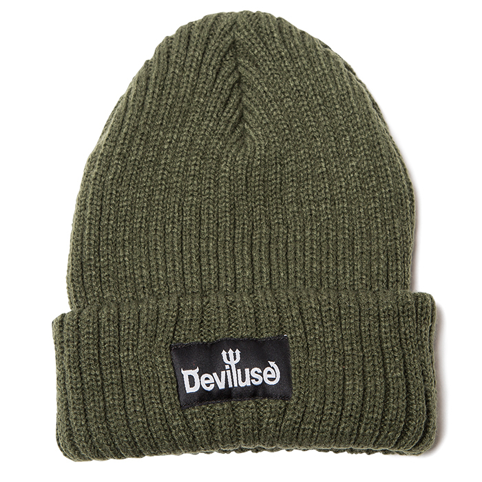 Deviluse(デビルユース)| Logo Beanie(Olive)