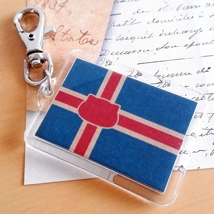 アイスランド×猫キーホルダー にゃんこっきKHその6