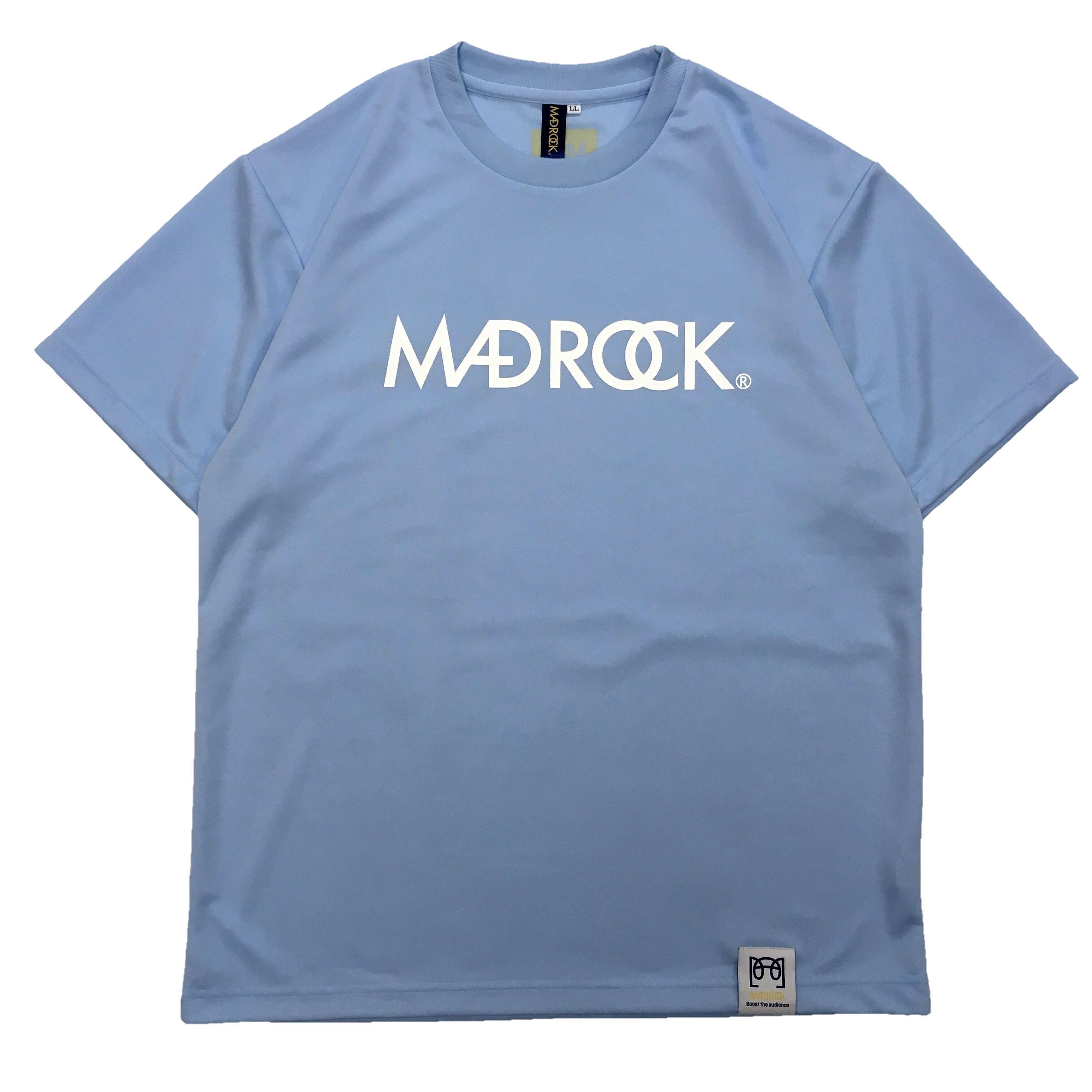 マッドロックロゴ Tシャツ/ドライタイプ/ライトブルー