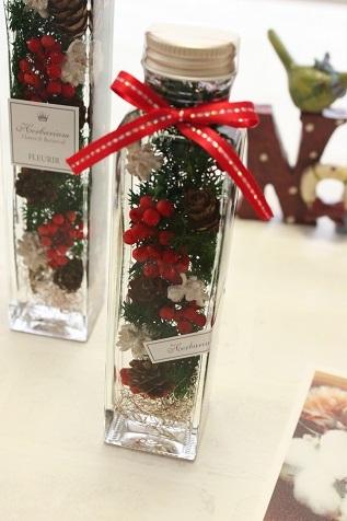 クリスマスハーバリウム 角瓶M