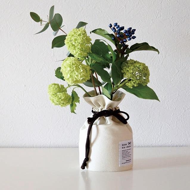 花巾着 CANVAS  S ナチュラル - 画像1