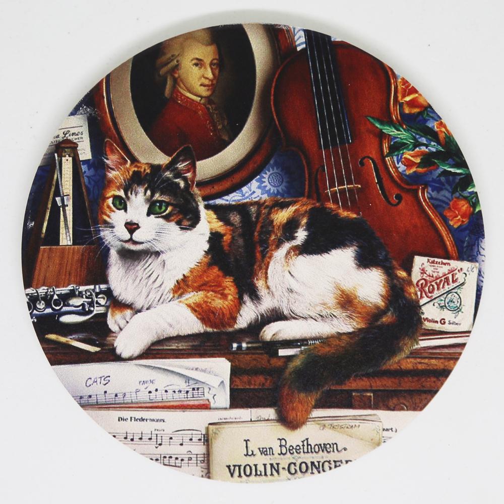 猫コースター(アンティークキャット)ミュージック