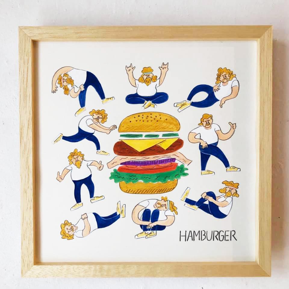 栗山リエ「ハンバーガー」