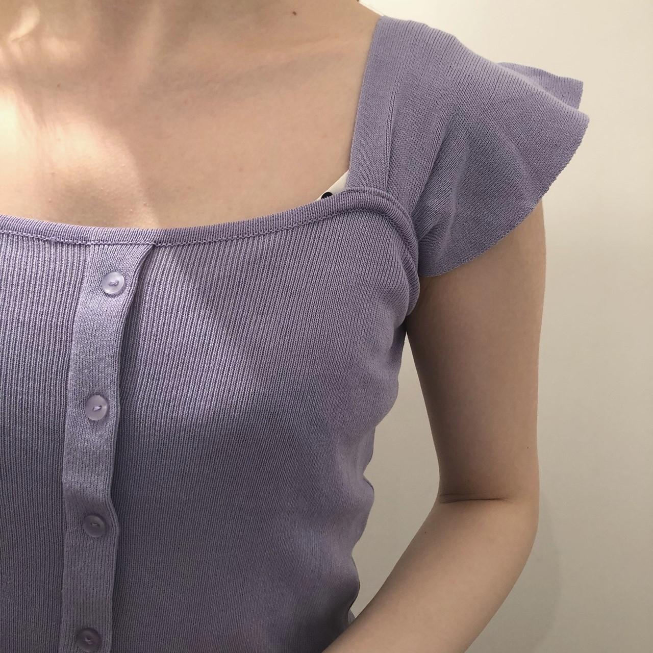 purple sleevless knit