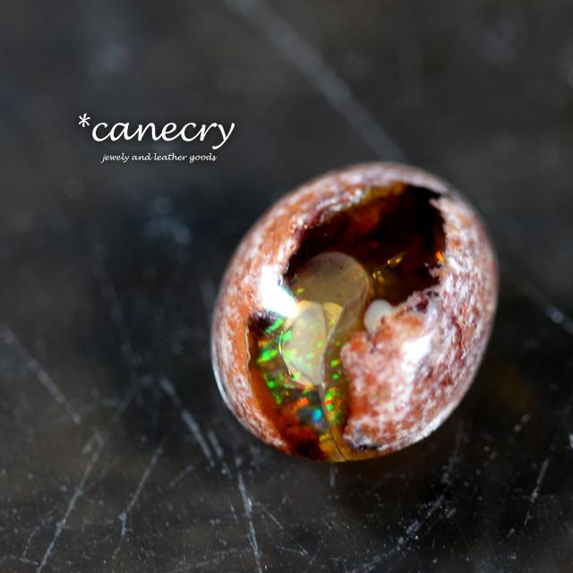 石で作るオーダーリング【カンテラオパール】