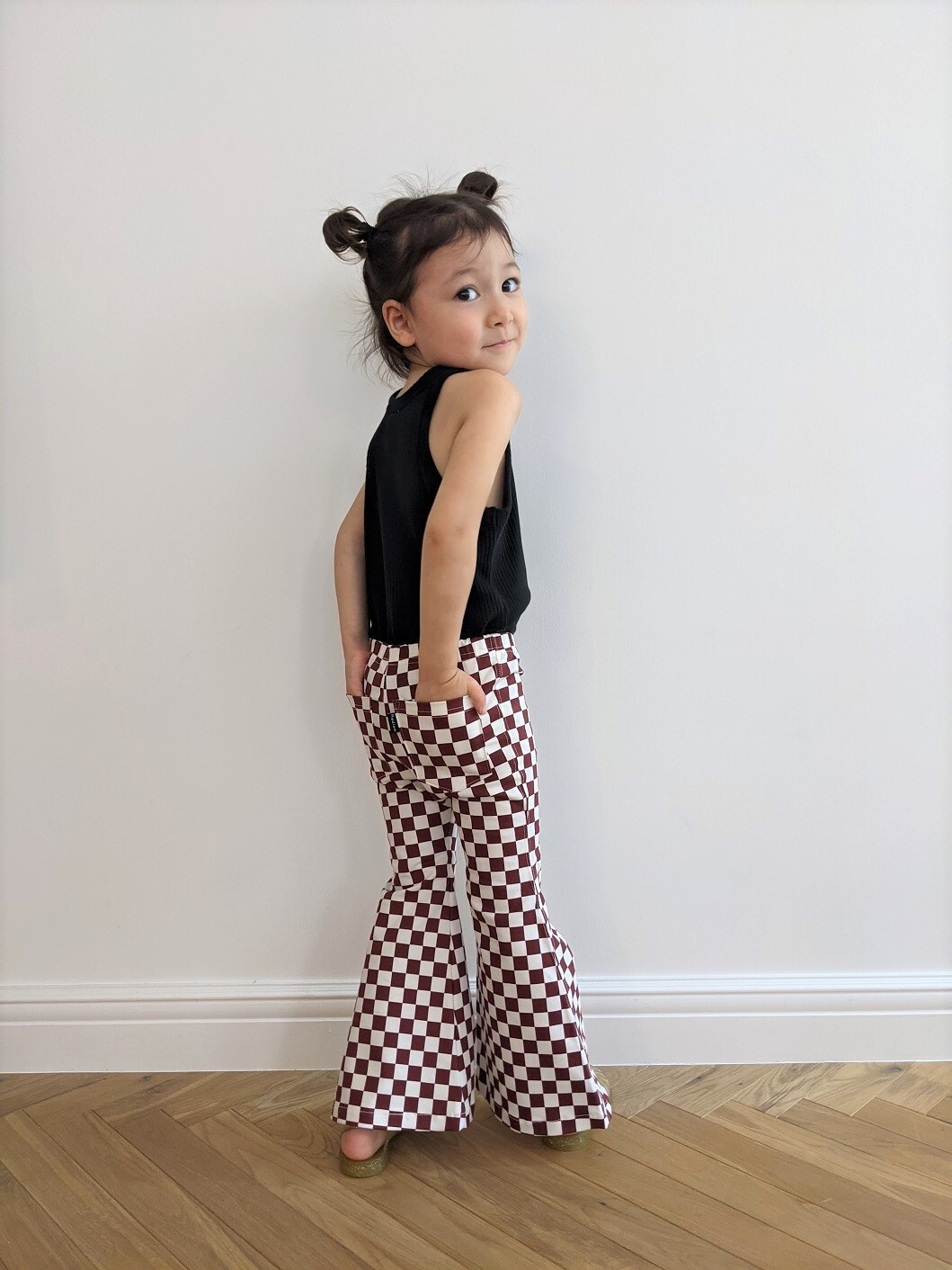 Kids Checkered Bell Bottoms