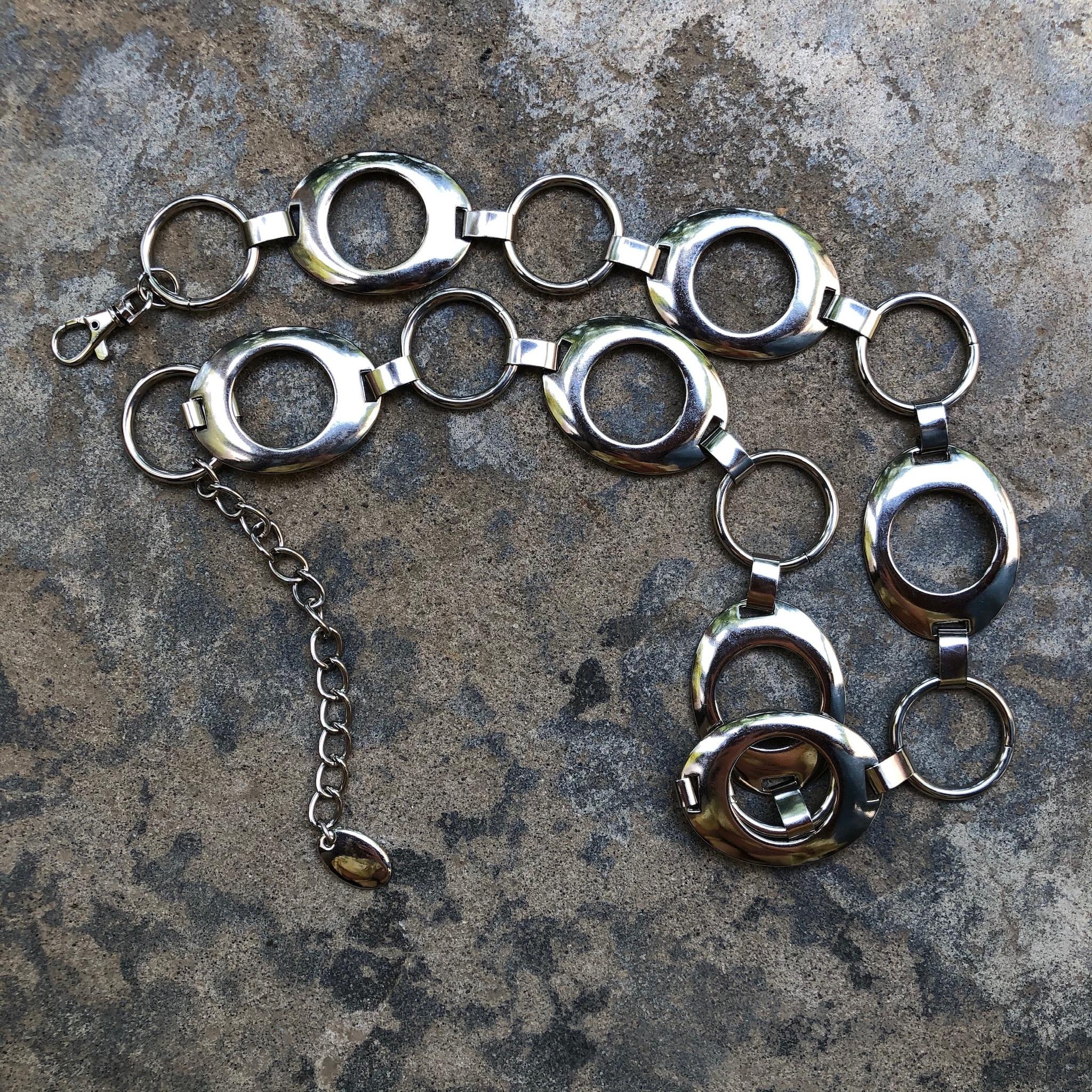 silver ring belt
