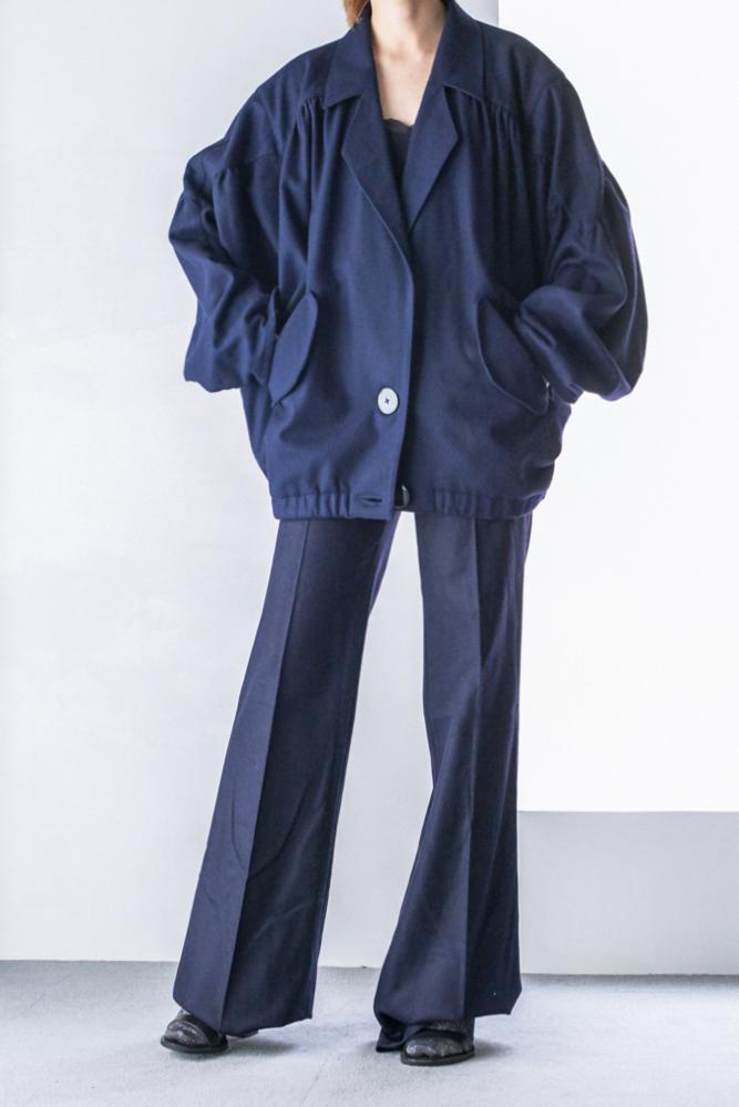 shoulder Gather Wool Jacket