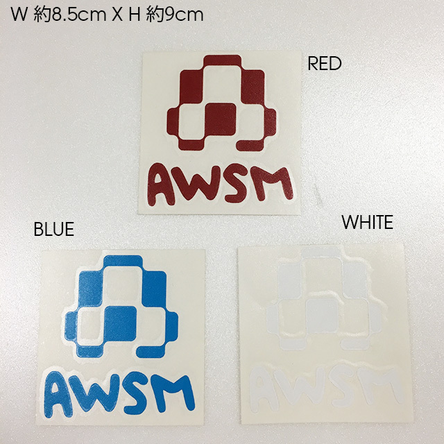AWSM カッティングステッカー (RED / BLUE / WHITE)