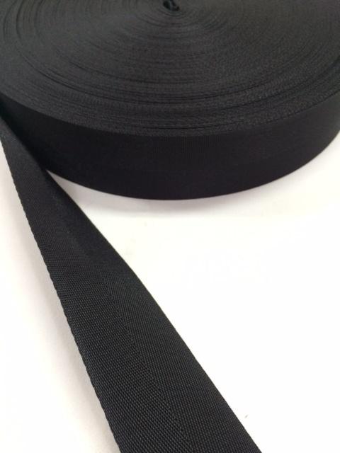 ナイロン 杉綾織(綾テープ) 50mm幅 黒   5m