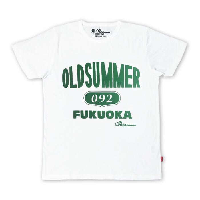 白tシャツ old summer 092 緑 oldsummer fukuoka オールドサマー福岡