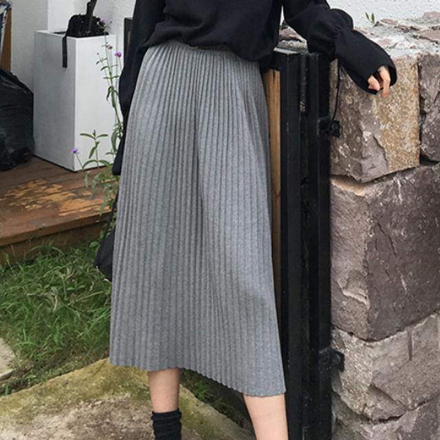 2018 秋 人気のお品 スカート ミディ丈 プリーツ 3カラー 秋冬 カジュアル オフィス 通勤 キャンパス