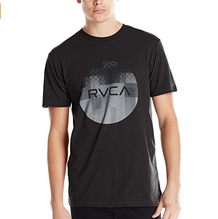 ルーカRVCA Men's Halftone Fade Tシャツ ブラック