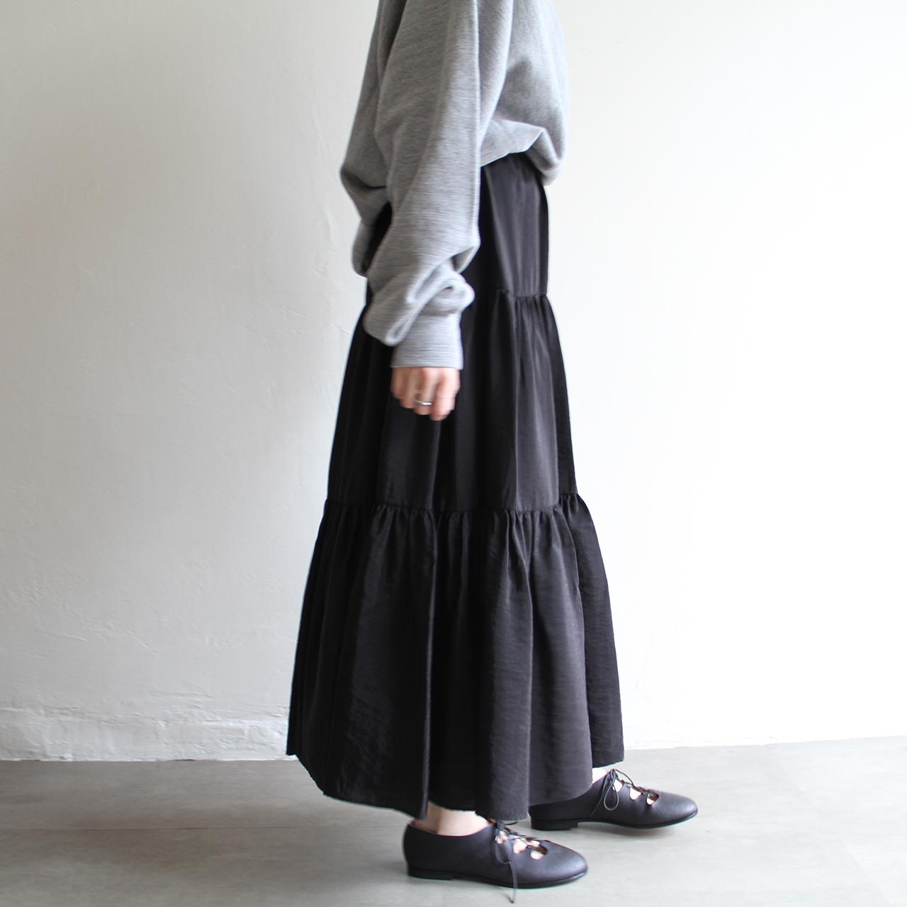 PHEENY【 womens 】organdie tiered skirt