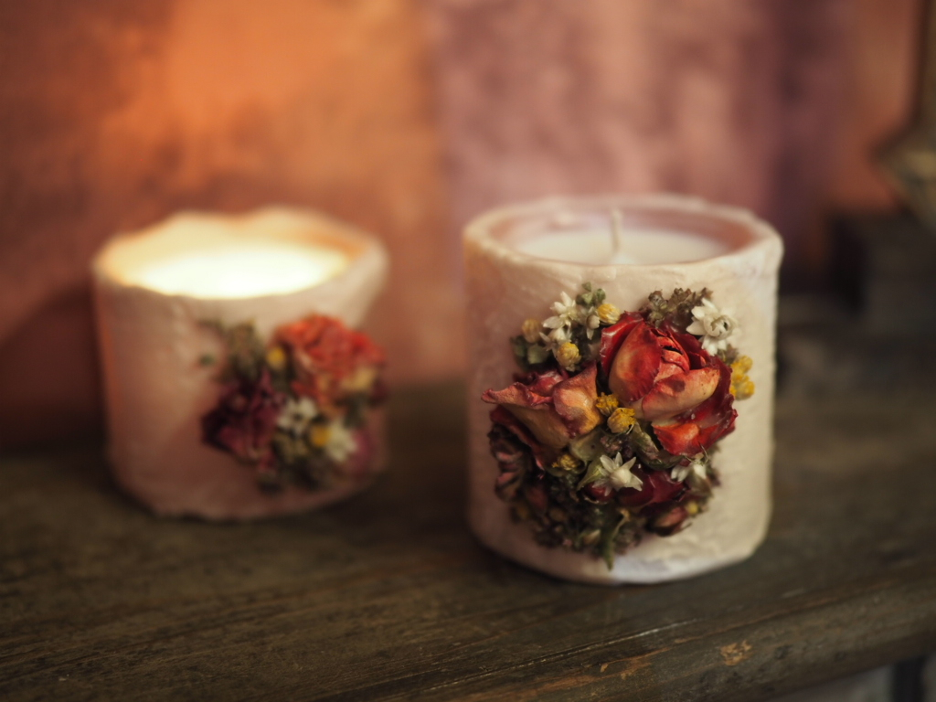 Antique Botanical Candle 3