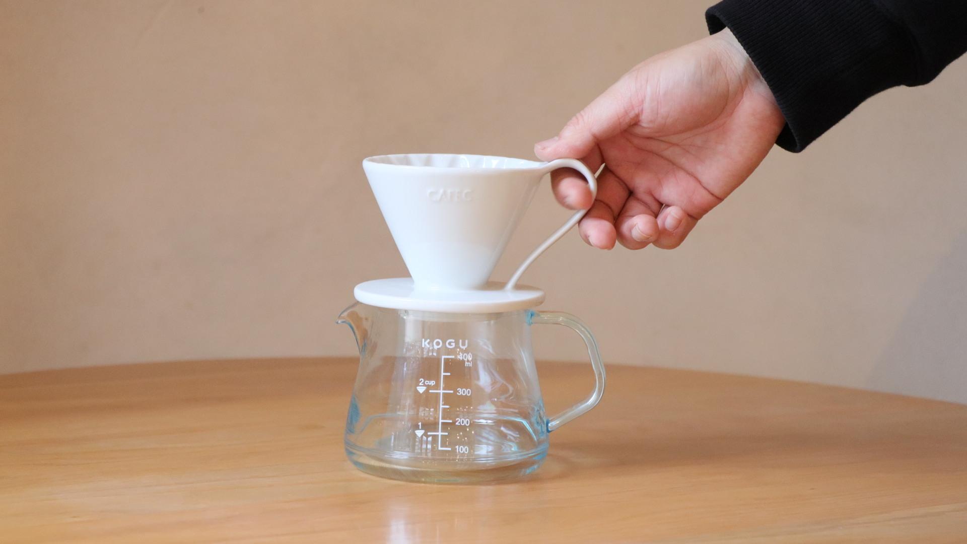 【ホワイト】フラワードリッパー(有田焼)1-2杯用