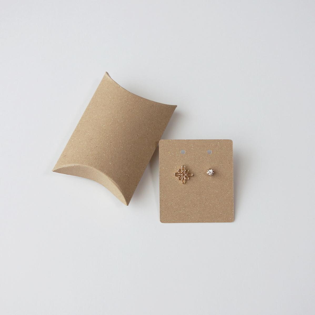 ピローケース小 10枚入 クラフト アクセサリー用台紙付き